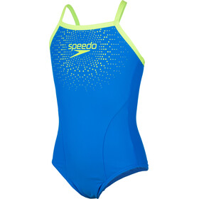 speedo Gala Logo Thinstrap Muscleback Swimsuit Mädchen blue/green